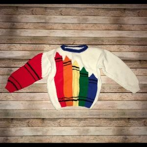 Vintage Youth Multi Color Crayons knit